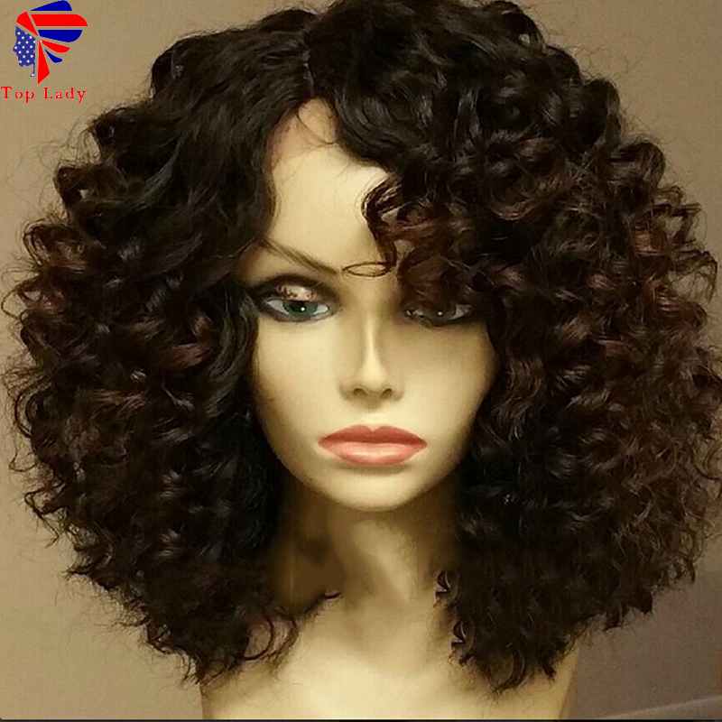 7A Full Lace Deep Curly Wigs 100% Brazilian Virgin Human Hair Glueless Deep Curly  Lace Wig With Baby Hair For Black Women<br><br>Aliexpress