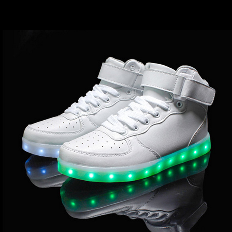 2016 New Men and Women Fashion Luminous Shoes High Quality LED Lights USB Charging Colorful Shoes Lovers Casual Flash Shoes<br>