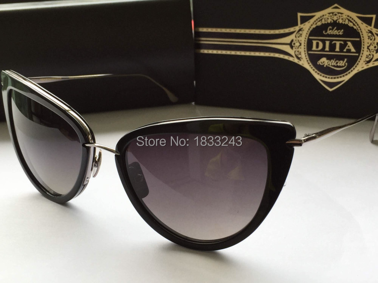 NEW!Free shipping Dita HEARTBREAKER 2015 new sunglasses small cat-eye sunglasses ladies Plate and metal collocation(China (Mainland))