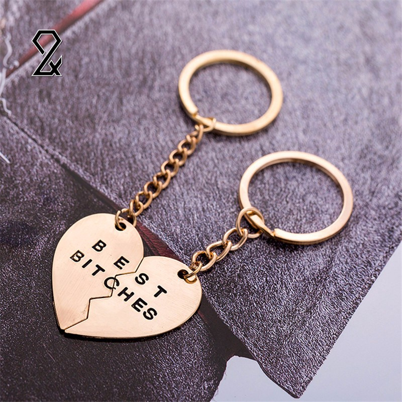 Cute Western Mini Metal Couple keychain Heart Shaped Heart Key Ring Lovers Love Valentine 's Day Gift Key Chain Party Supplies(China (Mainland))