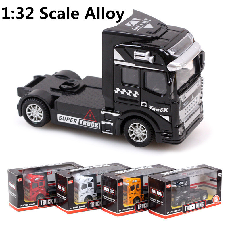 1:32 scale alloy truck , super truck head, pull back alloy model car, children's toys, free shipping!(China (Mainland))