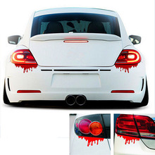 New 2016 Hot Blood Bleeding Car Stickers Reflective Car Decals Rear Front Headlight Sticker Door Window Car Body 1Pcs(China (Mainland))