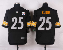 Pittsburgh Steelers #7 Ben Roethlisberger Elite White and Black Team Color high-quality free shipping(China (Mainland))