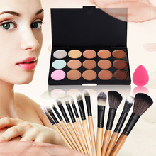 #F9s High Quality 15 Color Concealer Makeup Brush Sponge Puff Tool Free Shipping(China (Mainland))