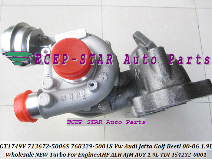 Воздухозаборник ECEP-STAR GT1749V 713672/5006s 768329/5001s 454232/0001 713672 Turbo AUDI VW Jetta Beetl AHF ALH AUY 1.9ltdi mathable 5006