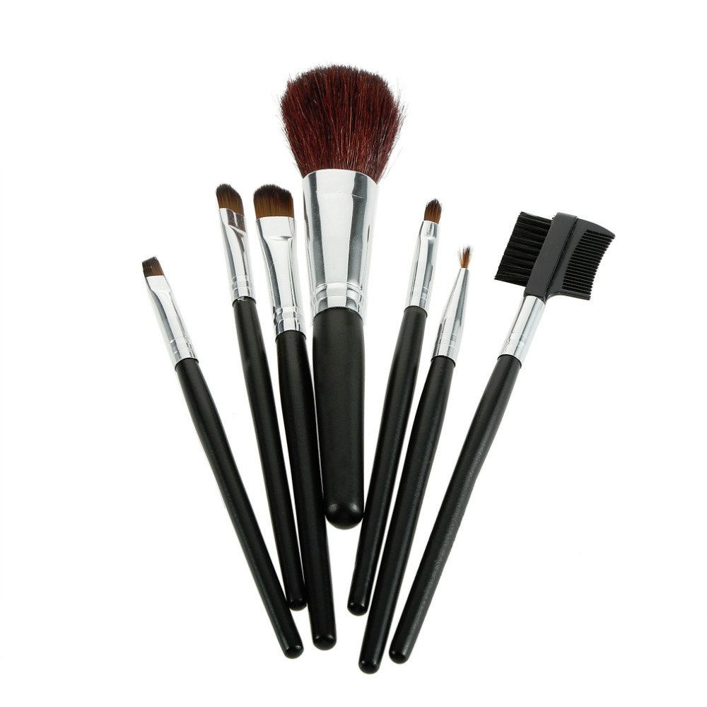 1set 7 pcs Professional Cosmetic Makeup Brush Brushes Set for Face Eye Lip pincel maquiagem brochas