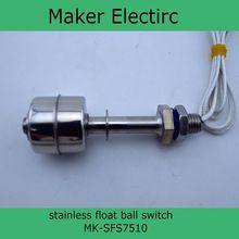 220V stainless steel anti corrosion float ball level switch MK SFS7510 Aquarium Water Level Sensor Stainless