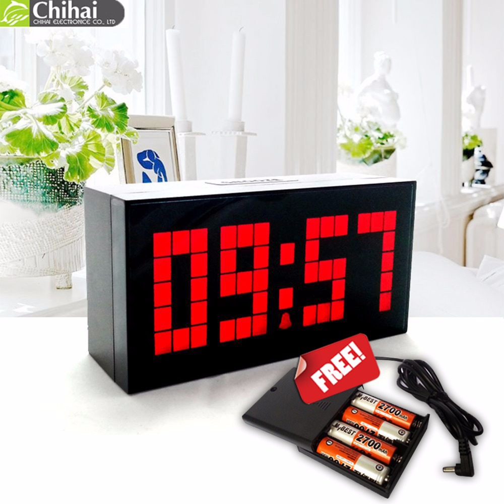 product FreeShipping! Digital Large Big Jumbo LED snooze wall desk alarm with thermometer indoor clock