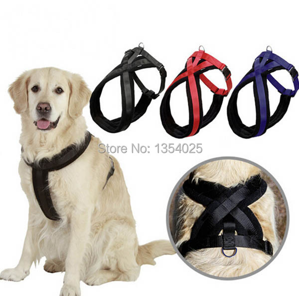 Top Quality big dog thicking harness large doggy outdoor harnesses pets supplies dogs vest 1 pcs/lot(China (Mainland))
