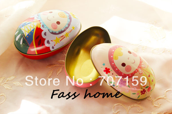 Easter egg Large tin storage iron leather box wedding candy gift Big Size 11.5*6.7*7cm boys girls - kassia yao's store