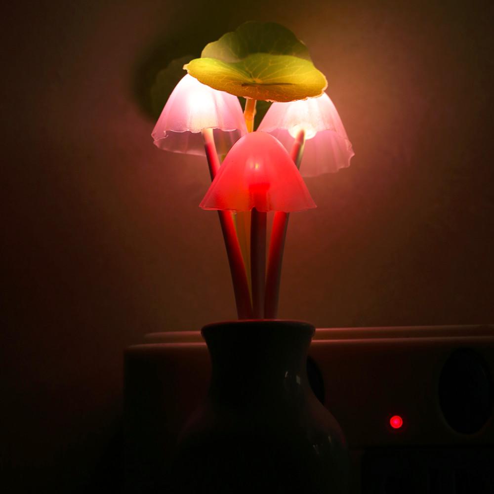 Decorative Wall Plug In Nightlights : ?Fashion US Plug Mushroom ? Wall Wall Socket Light-controlled Sensor LED Night ?_? Light Light ...