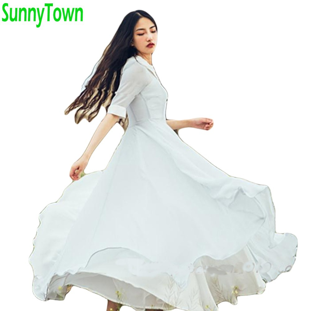 Hot new fashion 2014 summer autumn brand casual maxi long clothing set retro vintage party dresses women work wear brown blueОдежда и ак�е��уары<br><br><br>Aliexpress