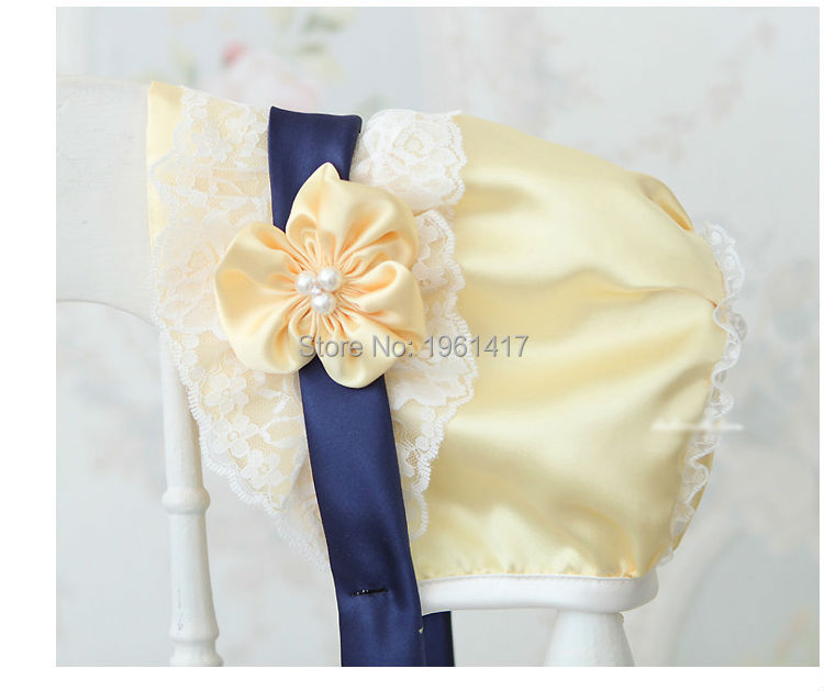2016 Perfect Baby Lace Cap Handmade Girls Dress Accessories Bonnet Flower - My store