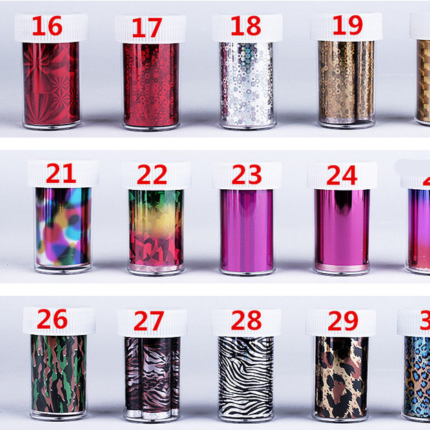 2016 New 20pcs/lot Plastic Nail Art Supplies Transfer foil Nail Tip stickers Decorations nail art tools(China (Mainland))