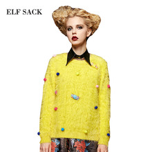 Buy Elf SACK wedding autumn sweet o-neck fashion all-match young girl pullover sweater female long-sleeve for $23.99 in AliExpress store