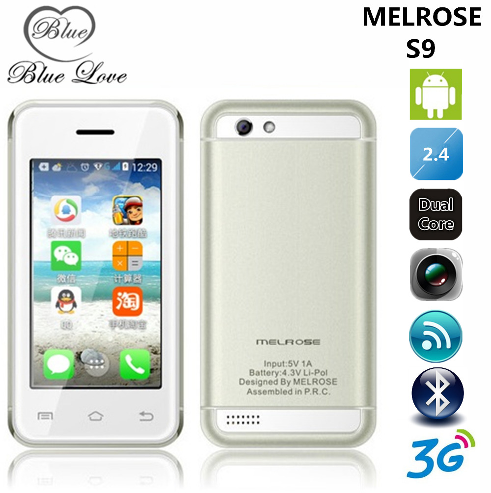 Original melrose S9 MTK6572 Dual Core 2.4 inch Android 4.4 mini 3G Smartphone Single SIM Card Small mobile phone WiFi Bluetooth(China (Mainland))