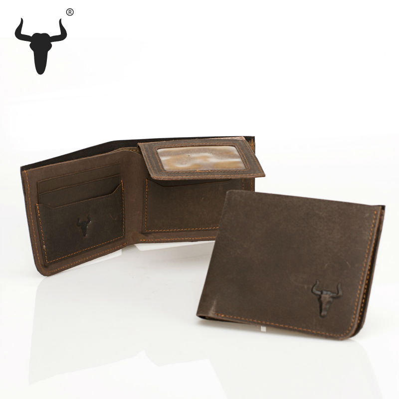 High Quality Vintage 100% Genuine Leather Men Wallets Cowhide Trifold Zipper Wallet Short Design Purse With Credit Card Holder(China (Mainland))