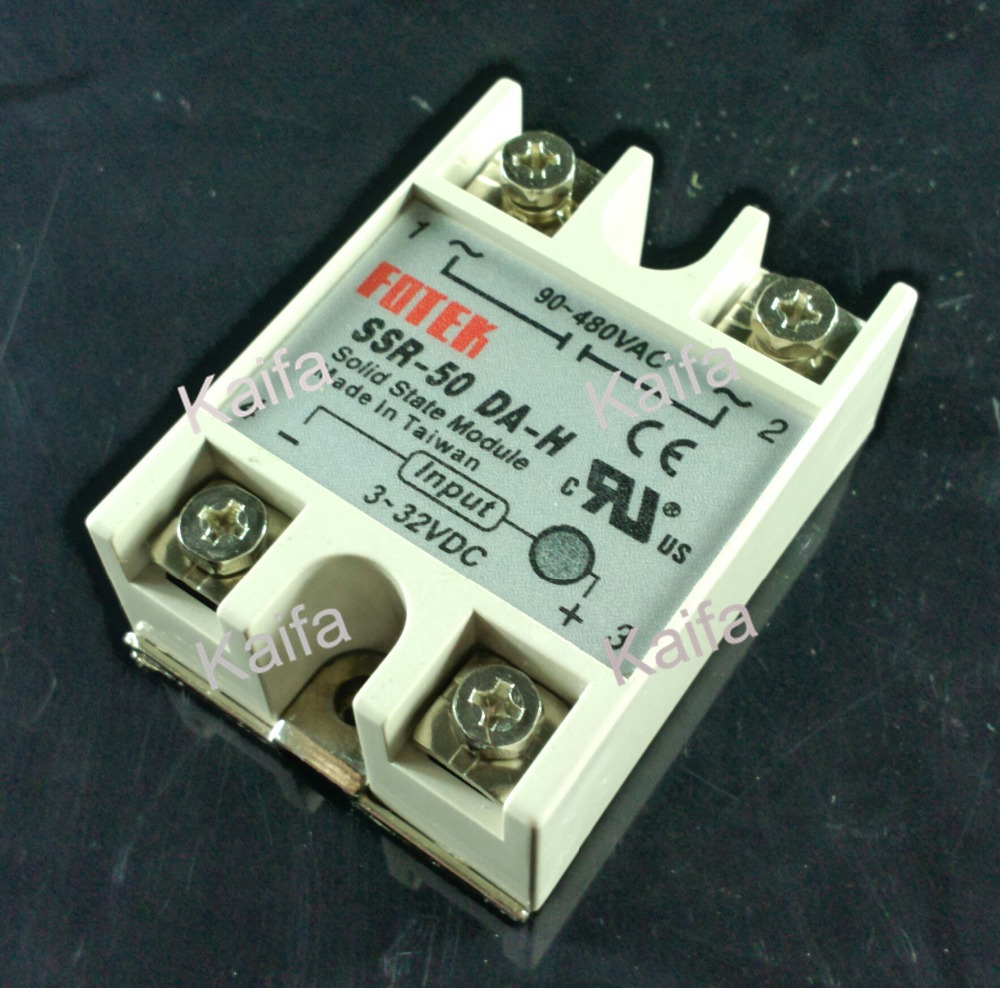 free shipping solid state relay SSR-50DA-H 50A SSR 50DA H DC TO AC relay solid state Resistance Regulator(China (Mainland))