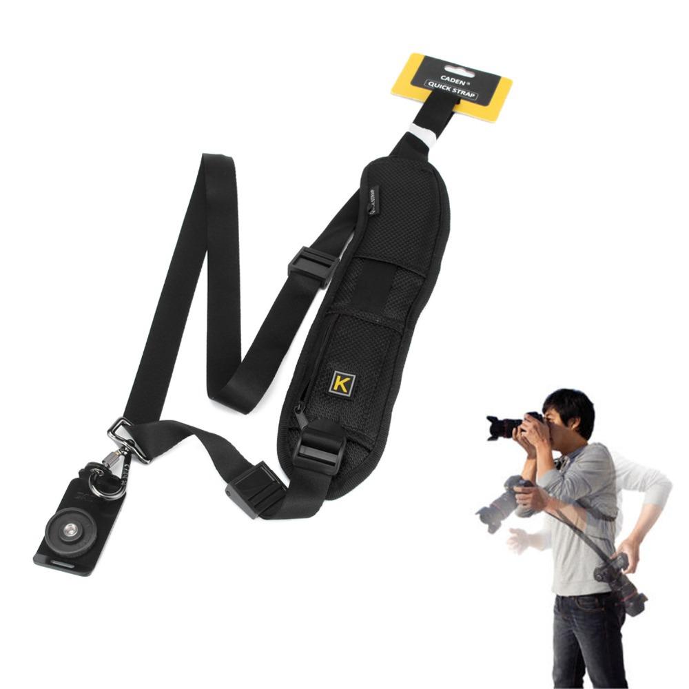 Быстрый быстрое плеча шеи слинг с губкой ремень шейный ремешок для зеркальных DSLR цифровые камеры - OLTEM - бытовая техника и э