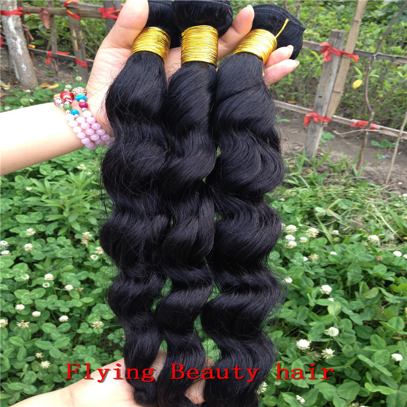 Hottest selling 5A grade lot cheap premium quality peruvian loose wavy virgin hair natural color - Flying Beauty Hair Products Co.,Ltd store
