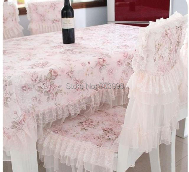 product Free shipping NN#57 Thicker version pastoral cotton cloth 1pc(130*180cm) tabel cloth+6pcs(Chair cushion + chair covers)