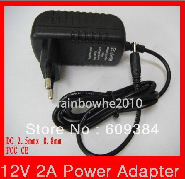 12V 2A  2.5x0.8mm EU Plug Power Adaptor Charger for Yuandao N90 Cube U9GT2 Tablet PC Higher Quality FCC CE Rohs Certification