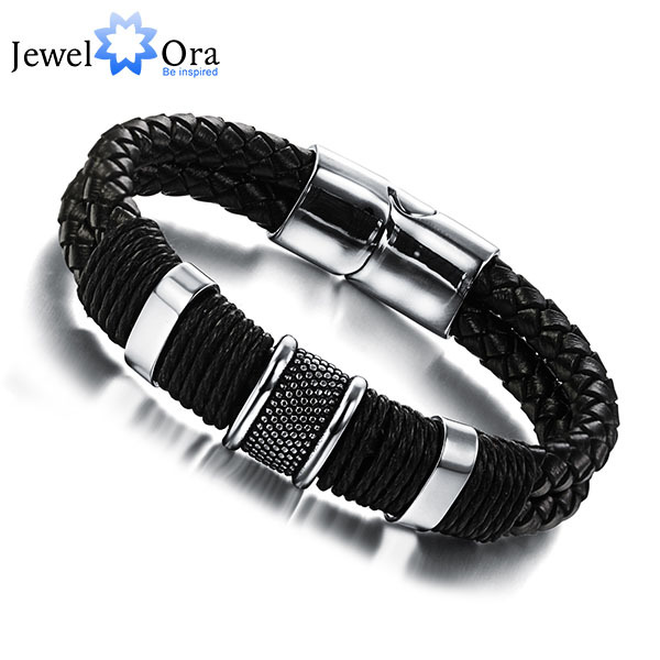 Wide Mens weave Chain Men Bracelet Wrap Wristband For Men Classic Bracelet Men Bangle Jewelry JewelOra