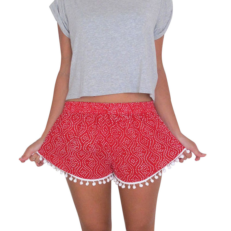 Lovely Women Ladies' Shorts Balls Summer Hot Short Black Red M L XL Casual Party Hot Shorts Festival Shorts