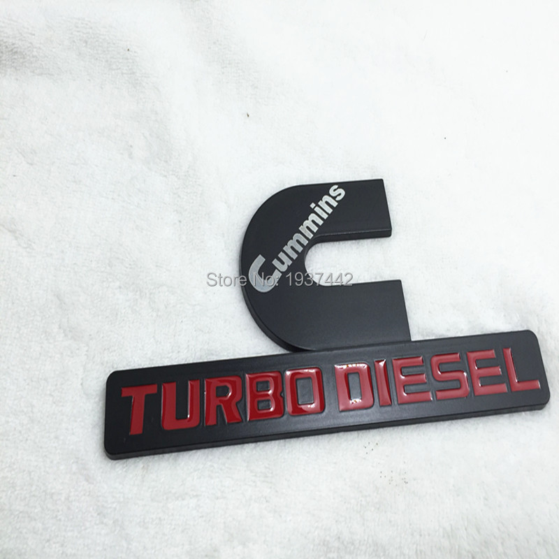 TURBO DIESEL emblem EMBLEM logo free shipping emblem ram decal stickers power diesel badge truck 4x4 logo for dooge for ford(China (Mainland))
