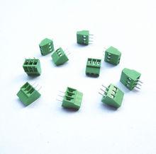 "10pcs 3 Poles/ 3 Pin 2.54mm/0.1"" PCB Universal Screw Terminal Block Connector Free Shipping(China (Mainland))"