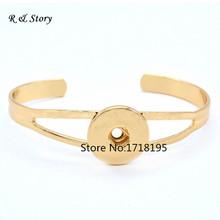 "Buy Unisex Snaps Gold Metal Snap Button Interchangeable Bracelet 21cm (8 2/8"") SB_193 for $14.06 in AliExpress store"