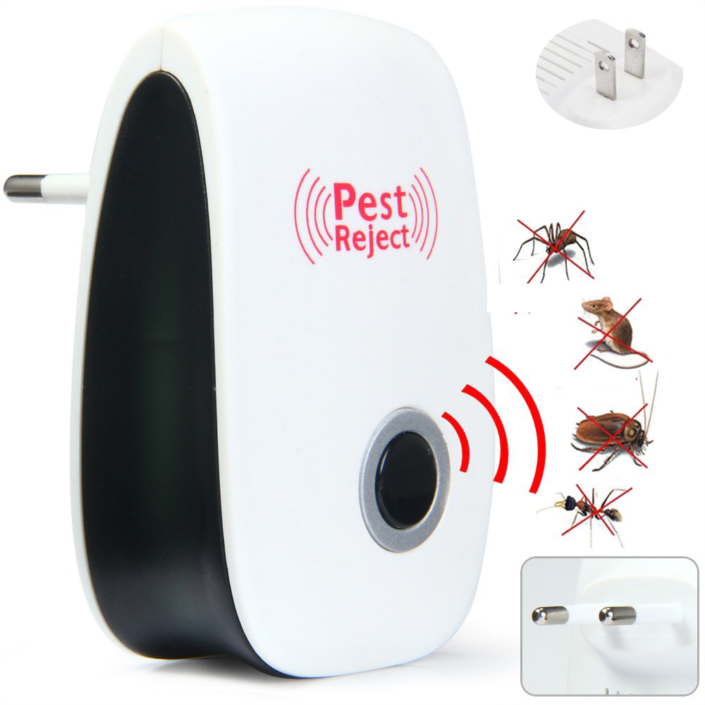 Hot Durable Electronic Multi-Purpose Ultrasonic Pest Repeller Reject Rat Mouse Repellent Cockroach Anti Mosquito Killer Rodent(China (Mainland))