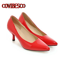 Plus Size 34-45,women 8 Colors Sexy Pointed Toe Pumps Fashion Four Season Office Pumps Ladies Thin High Heels Wedding Shoes