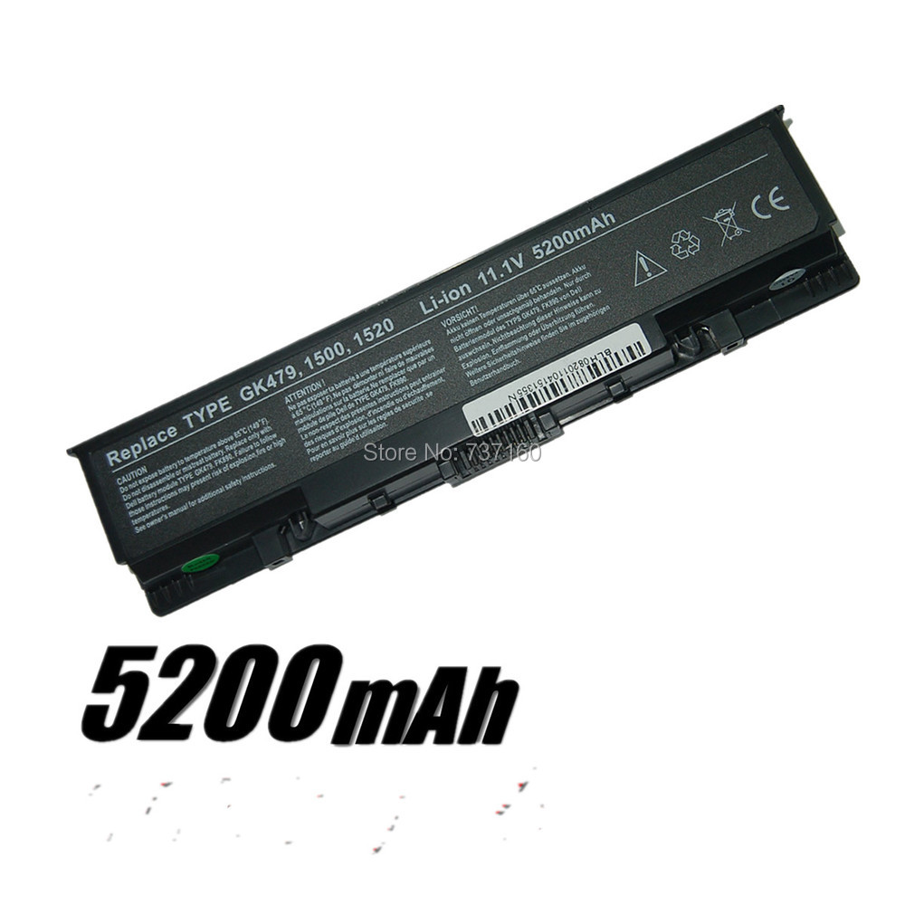 Laptop Battery Dell Inspiron 1520 1720 530s 1521 Vostro 1500 1700 batteries 6-CELL GK479