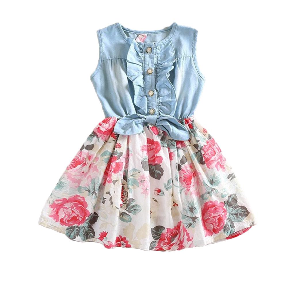 Платье для девочек Girl dress 2015 kids jeans dress платье для девочек pettigirl 2015 girl gd40918 11 gd40918 11^^ei