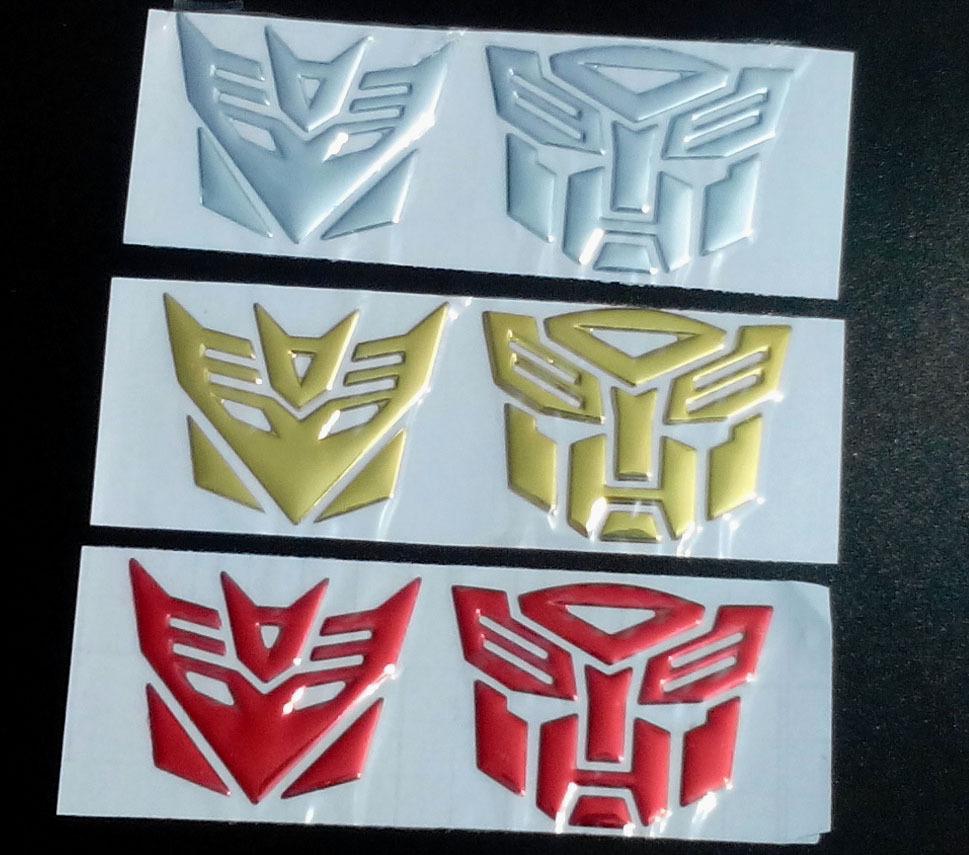 5Pairs ,Robot 3D Car Sticker,Chrome Badge Emblem Decal,Nick cover sticker. Free Shipping(China (Mainland))