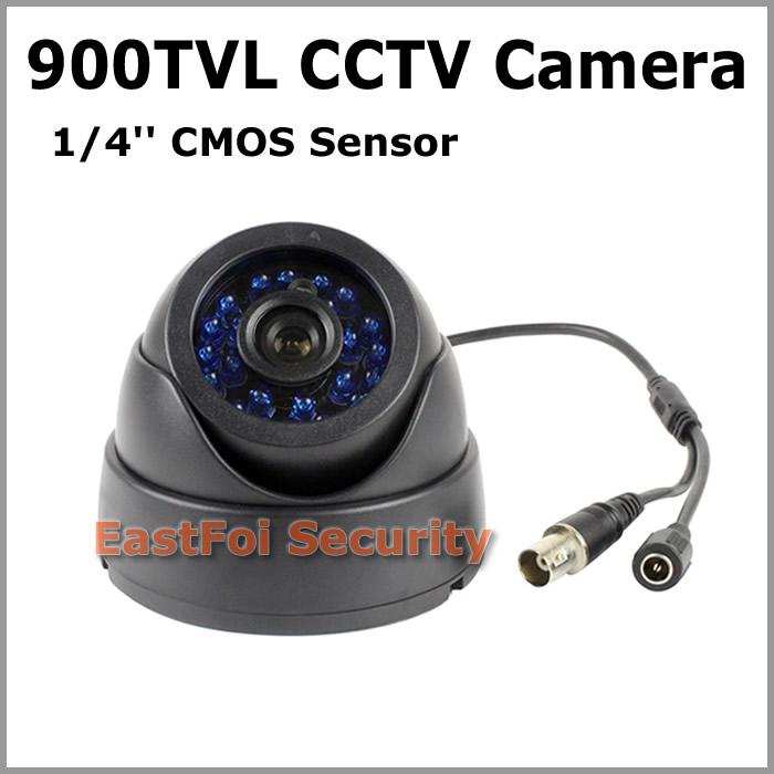 900tvl Home Security CCTV Dome Camera 24pcs IR Led Light 960H Color Image ABS Material Good Quality 0.1Lux Minimum Illumination(China (Mainland))