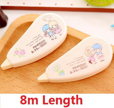 8m/New cartoon Love Story series correction tapes set/Good quality/Fashion Gift/Office material School supplies/WHOLESALE(China (Mainland))