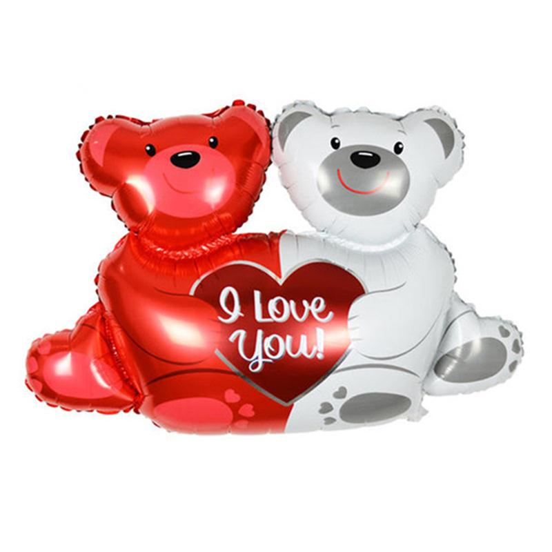 """40"""" Bear Love Foil Balloons Classic Toys Helium Balloons Birthday Balls Wedding Decorations Inflatable Toys Party Supplies(China (Mainland))"""