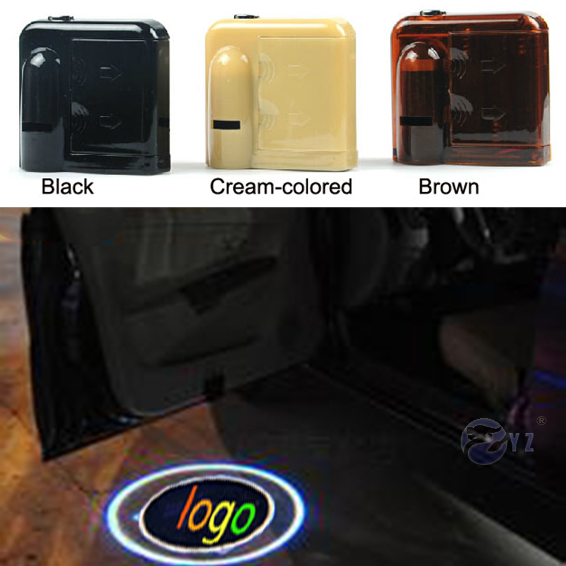 2 Pcs for Ford Mustang Wireless Led Car Logo emblem Door Projector Laser Light LED Welcome Ghost Shadow No Drilling Car Styling(China (Mainland))