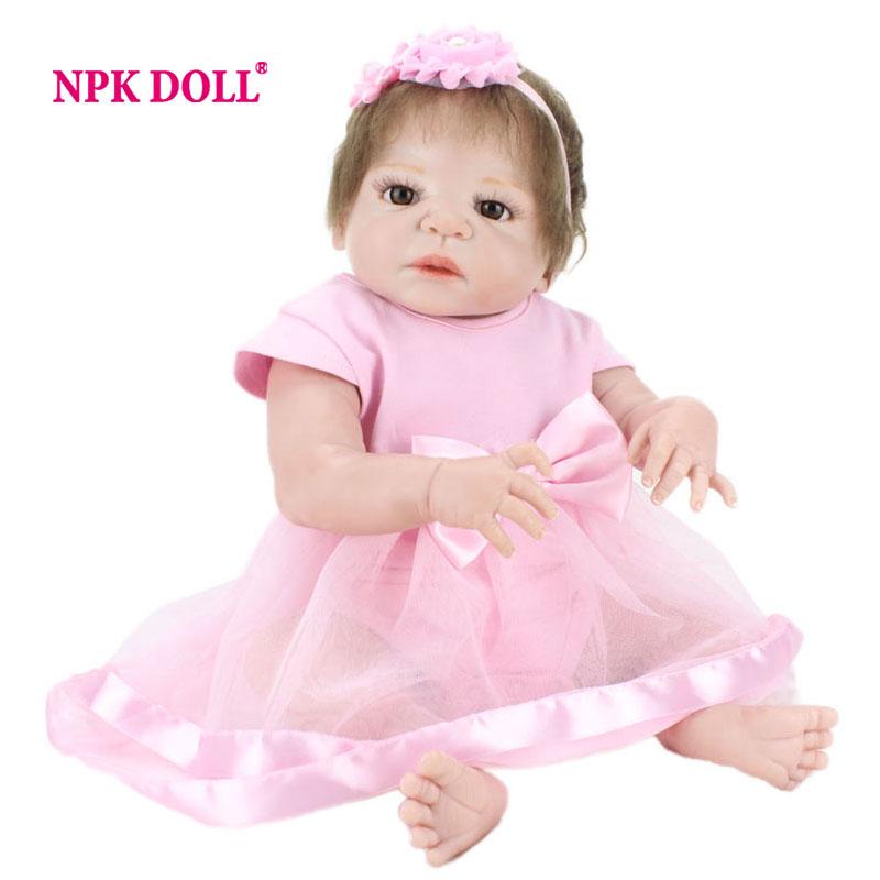 NPKDOLL 55cm Doll Reborn Babies Full Vinyl Toys For Girls Alive Baby Doll For Playhouse Gift(China (Mainland))