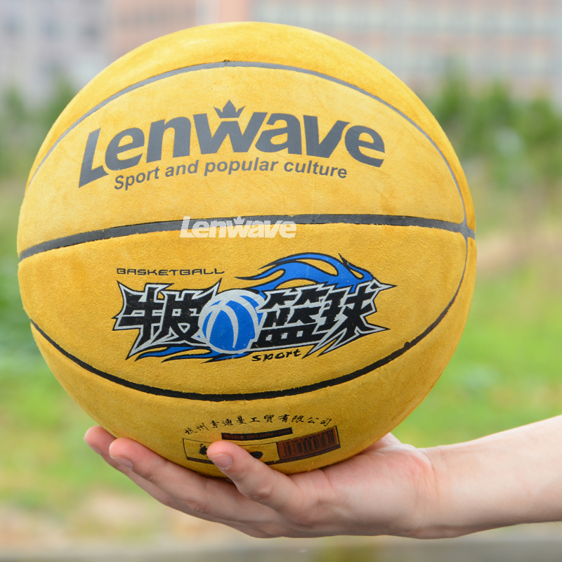 2016 New Lenwave Brand Cowhide Basketball Ball Indoor Official Match Basketball Balls Size 7 Free Shipping(China (Mainland))