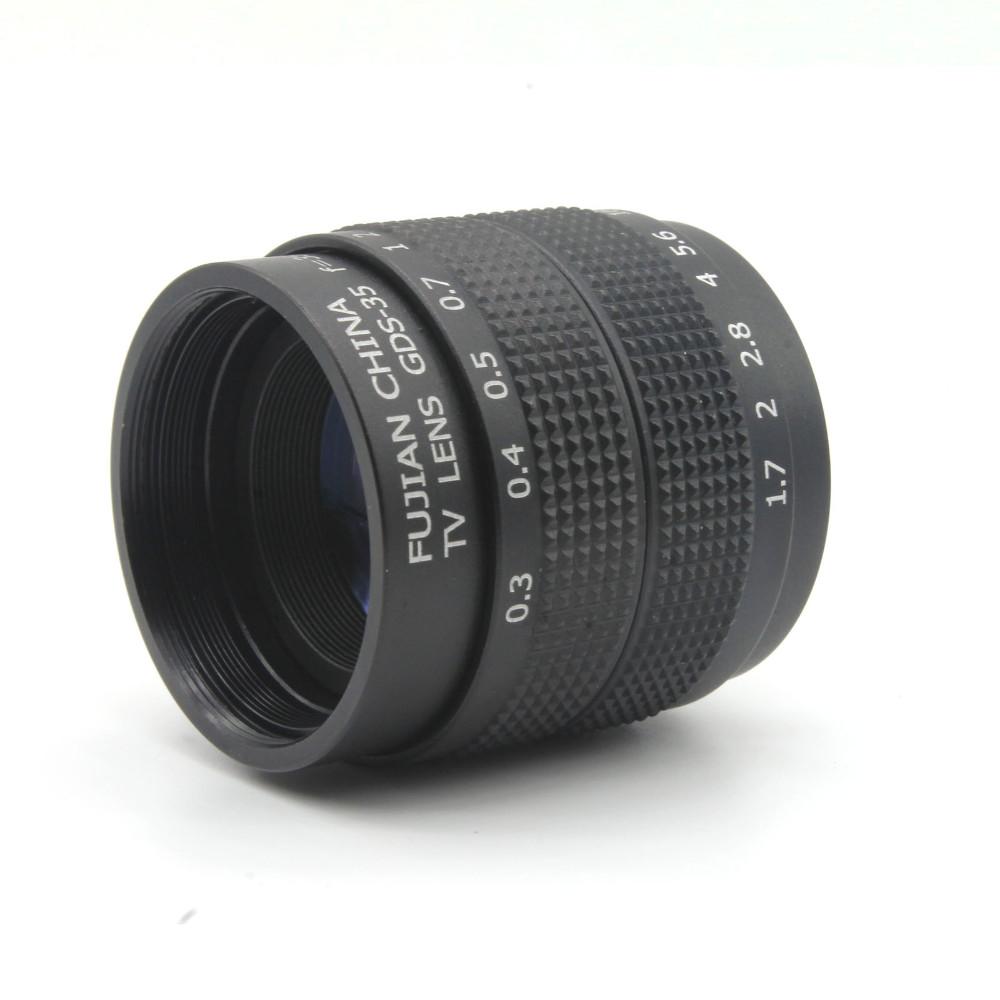 ถูก ฝูเจี้ยน35มิลลิเมตรf/1.7เลนส์กล้องวงจรปิดสำหรับM4/3/MFTติดกล้องและA Dapter b undle + 2 c amoutแหวนจัดส่งฟรี