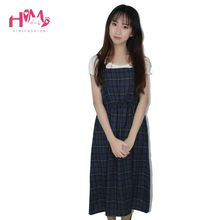 Buy High Waist Long Red 2017 Summer Suspender Midi Dress Women Cute Preppy Vestidos Sleeveless Casual Pleated Plaid Strap Dress Lady for $17.47 in AliExpress store