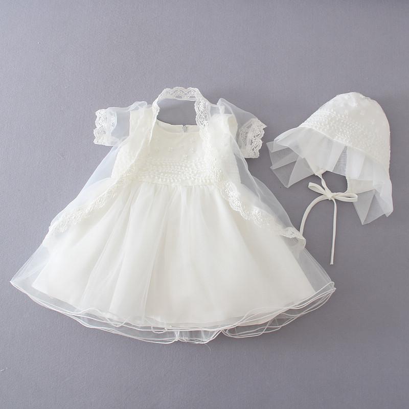 Flower princess baptism dress christening ball gowns toddler baby girl