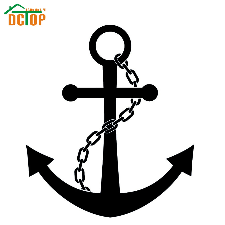 DCTOP Hot Sale High Quality Nautical Chain And Anchors Wall Sticker Bedroom Decorative For Kids Vinyl Art Decals(China (Mainland))