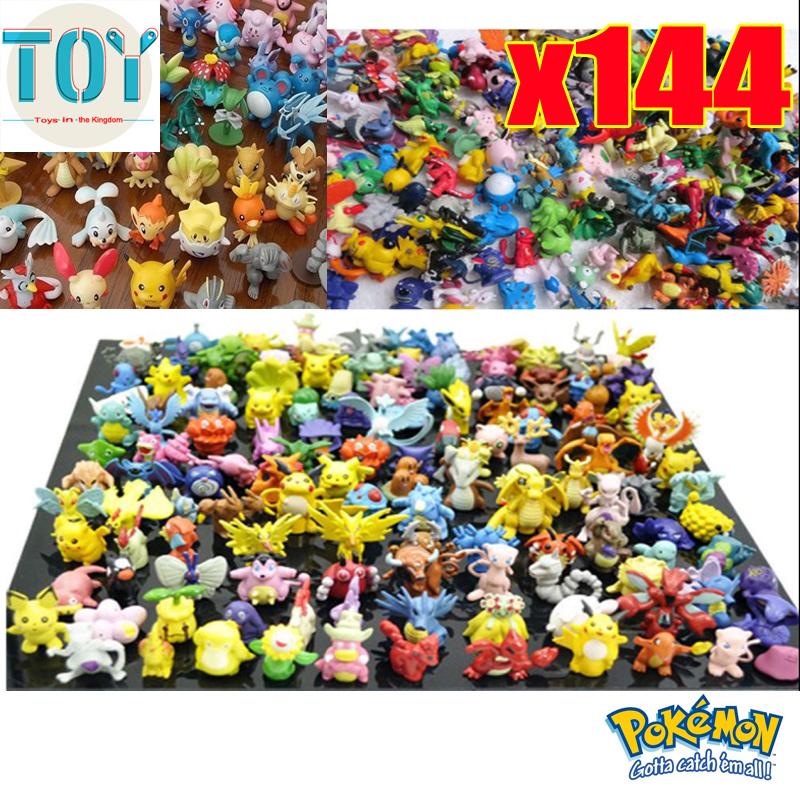 Wholesale 144 PCS New Pokemon Figures Toys 2-3cm Cartoon Dolls Pikachu Pocket Collection Random Styles Kids Toys Gifts Tracking(China (Mainland))