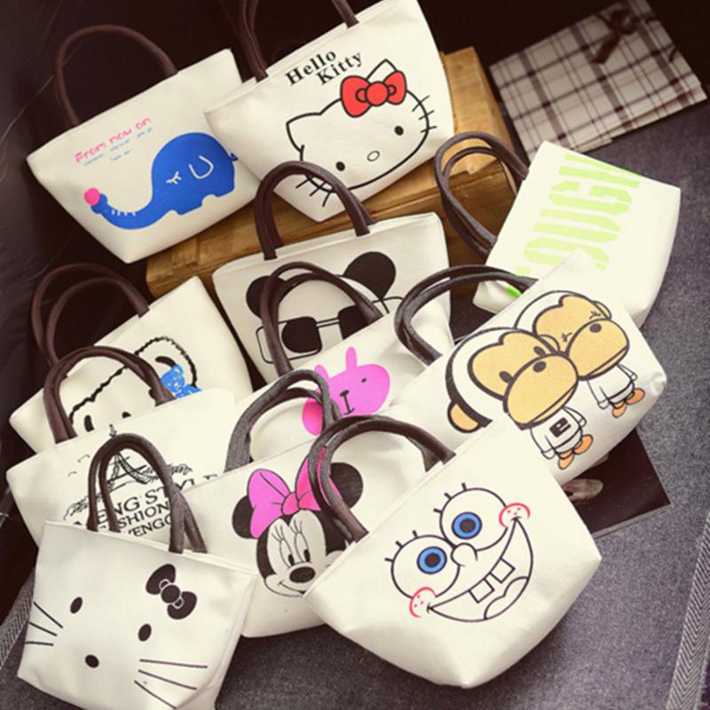 Fashion Women Bag Little Bear Shoulder Bags Cute Minnie Canvas Handbags Hello Kitty Clutch Bolsa Feminina Bolsas sac a main(China (Mainland))