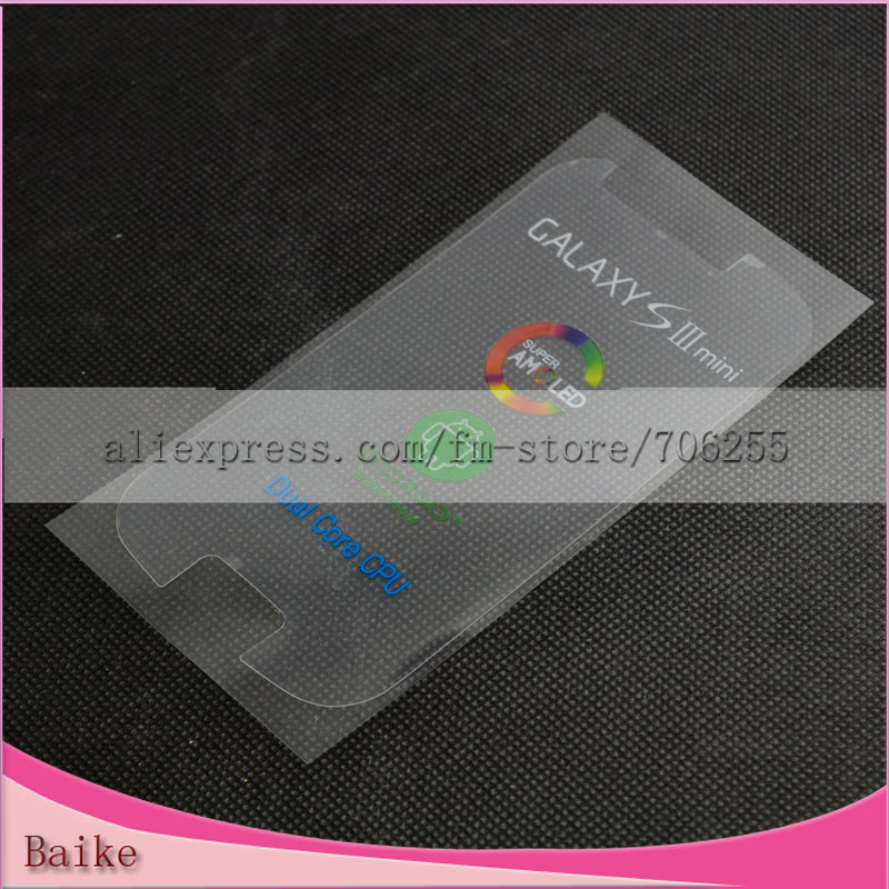 For Ssamsung galaxy s3 mini i8190 refurbish front factory lcd screen touch screen protector sticker new phone film Free shipping(China (Mainland))