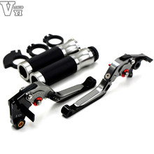 Buy motorcycle brake clutch levers 22MM handle bar handlebar grips Yamaha YZF R6 2005 06 07 08 09 2010 11 12 13 2014 for $51.15 in AliExpress store